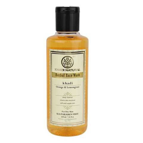 Гель для умывания Orange & Lemongrass herbal face wash Khadi (Апельсин и Лемон Кхади) 210мл