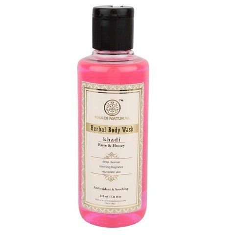 Гель для душа Rose & Honey herbal body wash Khadi (Роза и мёд Кхади) 210мл