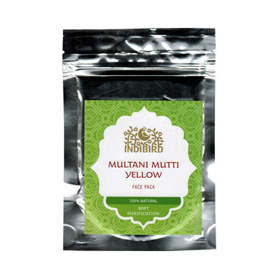 Маска для лица Мултани Мутти жёлтая (Multani Mutti Yellow) 50 г Indibird