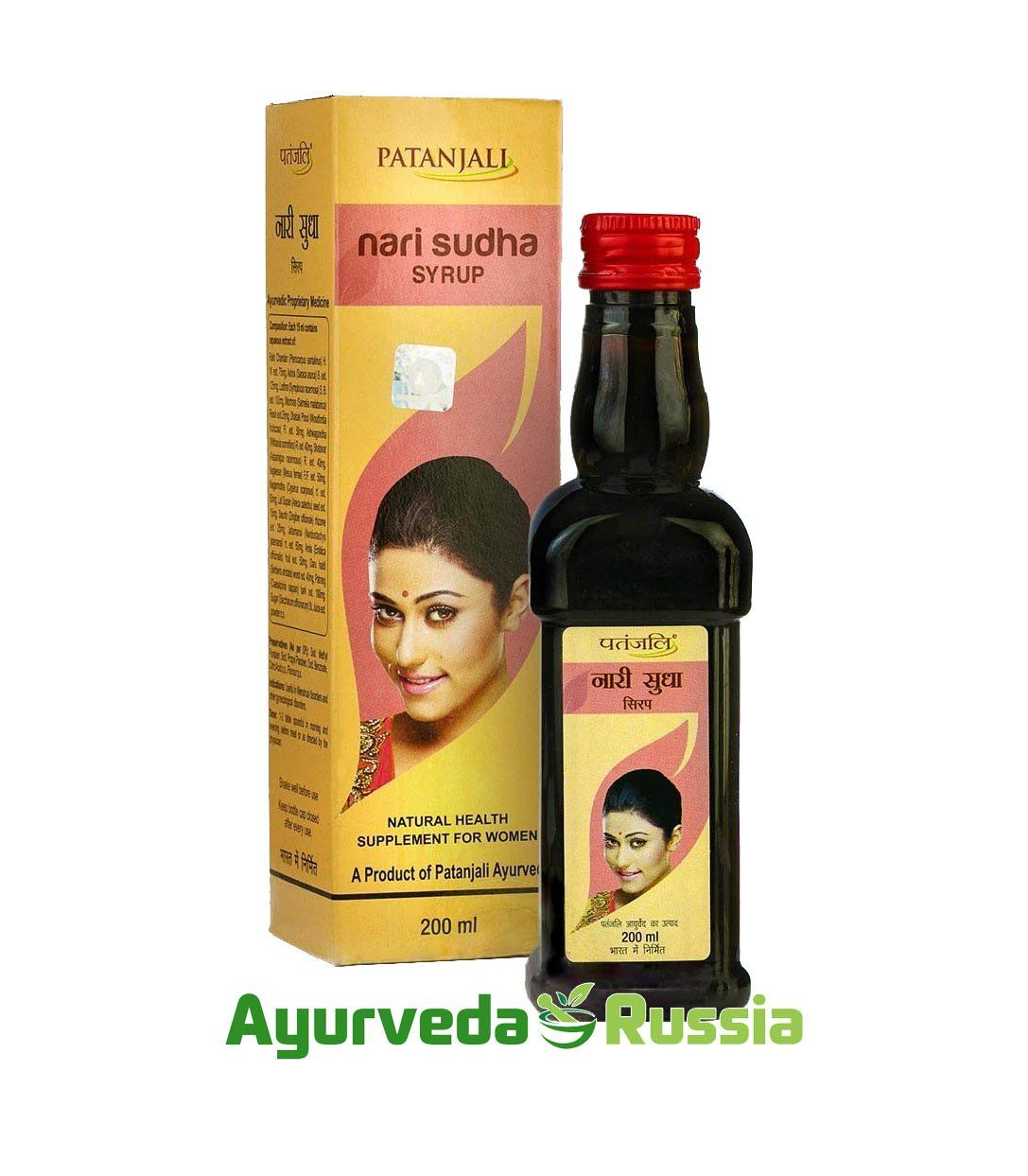 Nari Sudha Syrup Natural Health Supplement for Women Patanjali (Сироп Нари Шудха Патанджали) 200мл