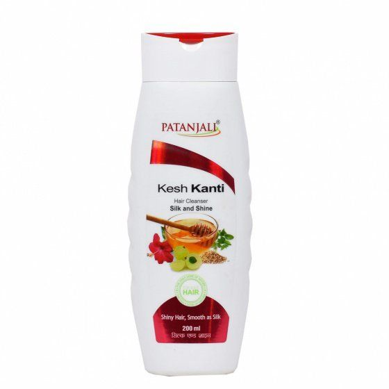 Kesh Kanti Silk and Shine Shampoo Patanjali (Шампунь Кеш Канти Гладкость и Блеск Патанджали) 200мл