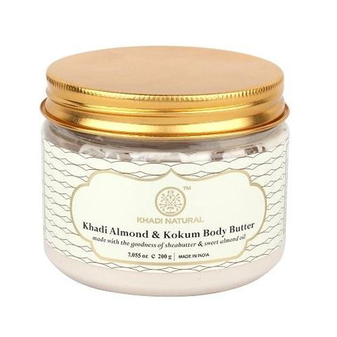 Крем-масло для тела Almond & Kokum Body Butter Khadi (Миндаль и Кокум Кхади) 200гр