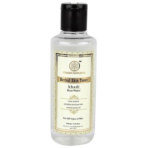 Розовая вода тоник Rose water herbal skin toner Khadi (Кхади) 210мл